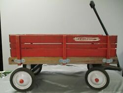 Vtg Radio Flyer Wooden Wagon-local Pick-up Only