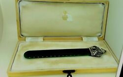 Antique Russian Silver And Nephrite Letter Opener.