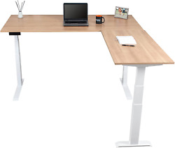 Stand Up Desk Store Triple Motor Electric L-shaped Corner Standing Desk With Ez