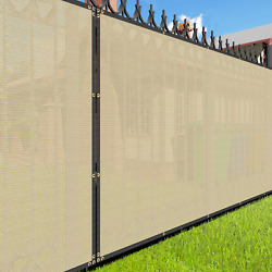 Eandk Sunrise 4and039 X 206and039 Beige Fence Privacy Screen Commercial Outdoor Backyard Sh