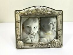 Fetco Home Decor Metal 2 Photo Frame Free Standing Critters Butterfly Ladybug