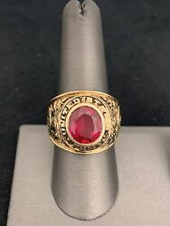 10k Yellow Gold United States Army Ring