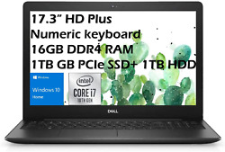 Dell 2021 Inspiron 17.3and039and039 Hd Plus Business Laptop Intel I7-1065g7up To 3.9 Ghz