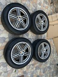 Oem Porsche Macan S Rims 19 With Tires,tpms And Factory Center Caps