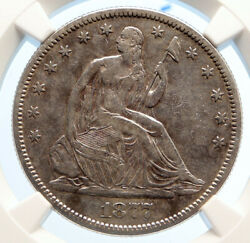 1877 S United States Eagle Seated Liberty Old Silver Half Dollar Coin Ngc I95570