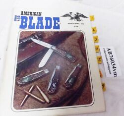 March April 1976 American Blade Knife Collector Magazine James Lile Jim Parker