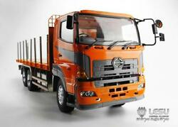 Lesu 1/14 Rc Model Hino 64 Metal Chassis Flatbed Lorry Trailer Tractor Truck