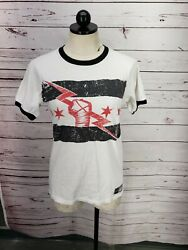 Mens Wwe Cm Punk Best In The World Vintage Ringer Shirt Small