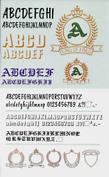Monogram 1 Embroidery Design Card For Brother Bern. Deco Baby Lock White .pes
