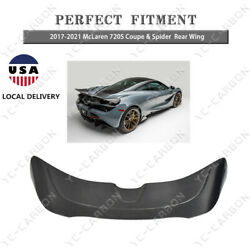 Dry Carbon For 2017-2021 Mclaren 720s Coupe And Spider Vs Style Rear Spoiler Wing