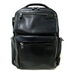 Auth Tumi Bradley 955012d2 Black Leather Mens Backpack