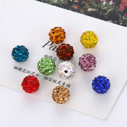 8 10mm 5/10pcs Disco Round Ball Crystal Beads Loose Beads Jewelry Making Pendant