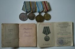 Ultra Rare Medal Of Nakhimov - Four Medals With The Document