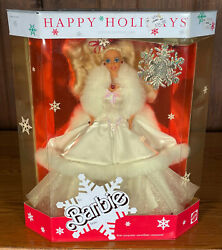 Rare Brand New Never Opened Special Edition 1989 Happy Holidays Barbie Doll