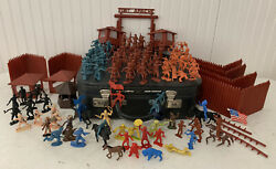 Vintage Fort Apache Marx Playset Mixed Figures Accessories Extras Details
