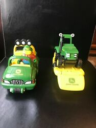 John Deere Learning Curve Jeep Truck Trailer Farmer Buggy Tractor Toy Set