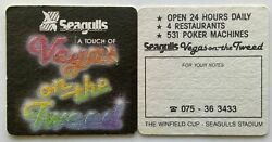 Seagulls A Touch Of Vegas On The Tweed 531 Poker Machines 2 X Coaster B268-179