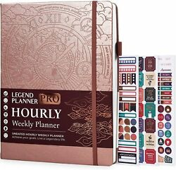 Legend Planner Pro Hourly Schedule Edition - Deluxe Weekly And Daily Organizer
