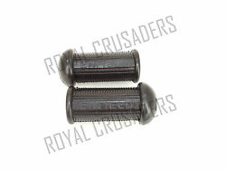 New Royal Enfield Foot Rest Rubber Pair Enfield Logo Embossed
