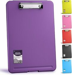 Clipboard Purple, Clipboards With Letter Size Compartments Storage Case For 100