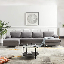 Alapaste Convertible Sectional Sofa,modern Tufted Soft Fabric Sofa With Left And R