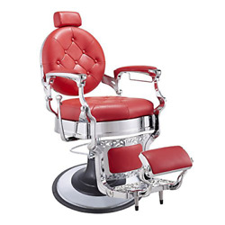Heavy Duty Barber Chair Menand039s Grooming Barbershop Hydraulic Chair - Vanquishred