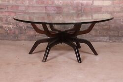 Mid-century Modern Spider Leg Glass Top Cocktail Table