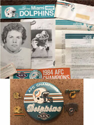 Free Ship Miami Dolphins Vtg Letters Pictures Bumper Stickers Pins Rare Nfl