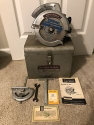 Vintage Porter Cable 115 Circular Saw And Case Contractor's Special