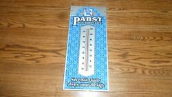 Pabst Blue Ribbon Beer Pbr Thermometer Sign Vintage Non Motion