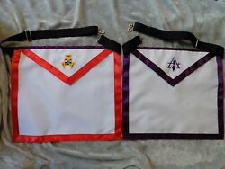 Dual Cloth Apron Chapter Council York Rites Past High Priest Masonic New