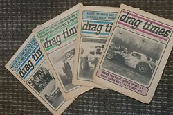 Vintage 72 73 Drag Times Lot Of Four Drag Racing East Coast Maryland Maple Grove