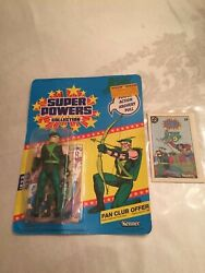 VINTAGE FROM 1986 quot; GREEN ARROW ACTION FIGURE UNUSED quot; W CARD MINI COMIC