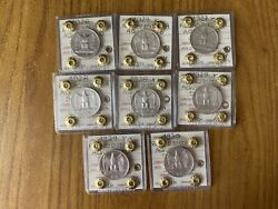 Series 8 Coins Kingdom Dand039 Italy 5 Livres Eaglet 1926 1927 1928 1929 1930
