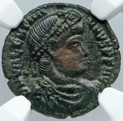 Valentinian I Captive And Chi-rho Christian Antique Ancient Roman Coin Ngc I88736