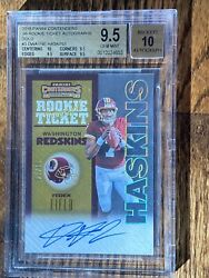 2019 Contenders Andlsquo98 Gold Ticket Dwayne Haskins /10 Auto Rc Bgs 9.5/10