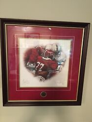 Alabama Football The Goal Line Stand Sketch Signed By Barry Kraus/daniel Moore