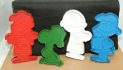 4 Piece Peanuts Cookie Cutters Linus, Lucy, Snoopy, Charlie Brown 17533