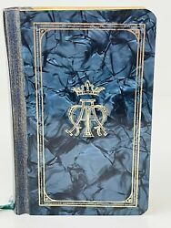 Vintage 1966 A Treasury Of The Blessed Virgin Mary Prayer Book Blue Lucite Small