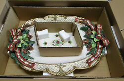 Fitz And Floyd Florentine Christmas 18 1/2 Platter In Box