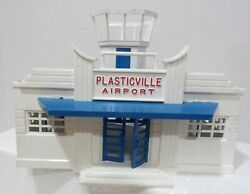 Vintage Plasticville Airport Tower O Gauge Used-needs Work Blue/white/red