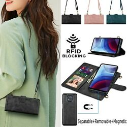 For Motorola Moto G Power 2021 Crossbody Wallet Leather Case And Card Slots Rfid $9.99