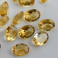 Sale Great Natural Citrine 3x5 Mm To 12x16 Mm Oval Faceted Cut Loose Gemstone
