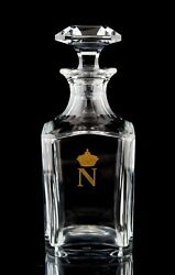 Baccarat Napoleon Whiskey Decanter And Stopper Vintage Harcourt Shape France