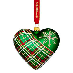 Waterford 2017 Holiday Heirlooms Waterford Nostalgic Plaid Heart Ornament New