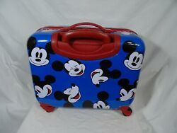 Disney Mickey Mouse Hard Body Spinner Rolling Suitcase 16 Multicolor