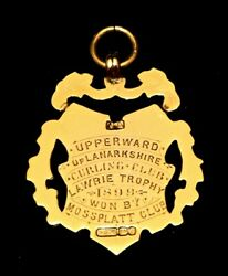 Victorian 9ct Gold Scottish Curling Fob Medal. James Laurie Trophy Winners 1899.
