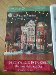 Department 56. Christmas In The City. East Village Row Houses. New. 59266.