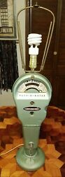 Vintage Pom Parking Meter Lamp With Keys Penny Nickel Dime Operation Real Beauty
