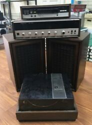 Magnavox Record Player, Stereo, Recorder And Speaker Set Local Pick Up Only
